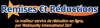 Logo de Remises €t réductions : le meilleur service de réduction en ligne par Webloyalty International Sàrl
